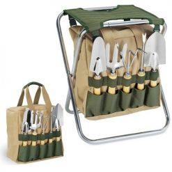 Garden Seat – 5Pc Garden Tool Kit